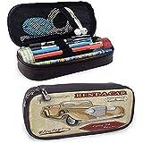 Estuche para lápices Alquiler de autos antiguos Ilustración comercial Imprimir con llaves Diseño de objetos originales con fecha original Diseño de papelería protectora Bronceado