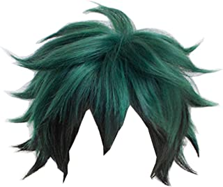 WeizhaonanCos My Hero Academia Izuku Midoriya Wig Green and Black Hair Wig Cosplay Props