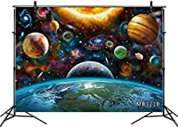 HD 10x7ft Galaxy Planet Photography Backdrop Space Universe Solar System Background Kids Children Birthday Party Baby Shower Decorations Customized Photo Booth Props