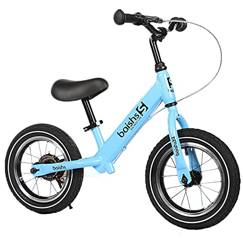 YMDA Balance Bike, 12 Inches with Brakes and Adjustable Seat, PU Foam Cushion, TPR Environmentally Friendly Grip, Rubber Pneumatic Tires