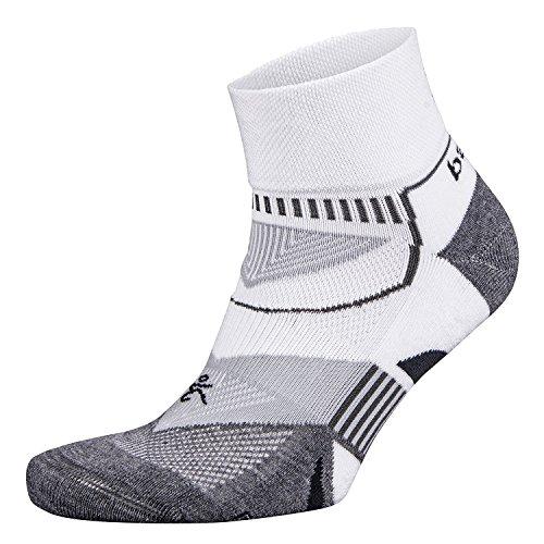 Balega Enduro V-Tech Quarter Sock, White/Grey, Small