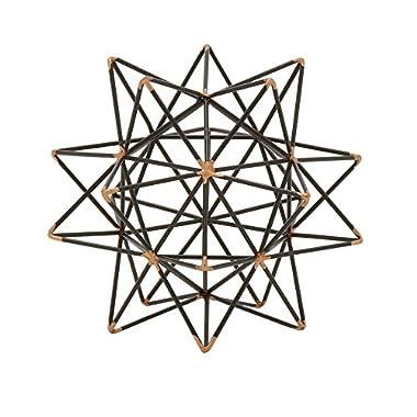 Deco 79 95243 Trendy Metal Wire Star Décor, 7  W x 7  H