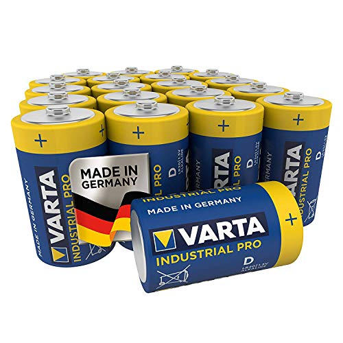 VARTA Industrial Batterie D Mono Alkaline Batterien LR20 - 20er pack, Made in Germany
