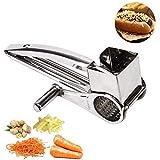 Zeerkeer Rallador de queso giratorio de acero inoxidable ultra afilado, para cocina de acero inoxidable, rallador giratorio para queso parmesano, ajo, frutos secos, jengibre, zanahoria (