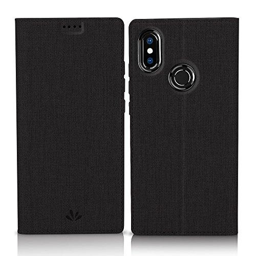 Eastcoo Xiaomi Mi A2 Hülle, Flip Folio Wallet Leder Smart Hülle Tasche Schutzhülle Handyhülle mit [Wake up][Standfunktion][Magnetic Closure] für Xiaomi Mi A2 (Mi A2, Black)