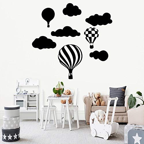 JXFM Romantische heteluchtballon vinyl zelfklevend behang voor kinderkamer woonkamer hoofddecoratie waterdichte muurkunst stickers