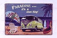 パラダイスビーチへ メタルポスター壁画ショップ看板ショップ看板表示板金属板ブリキ看板情報防水装飾レストラン日本食料品店カフェ旅行用品誕生日新年クリスマスパーティーギフト