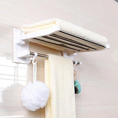 la cuisine ZXAZX Horloge /à suspendre moderne en ardoise avec anneau porte-serviette pour la maison la salle de bain