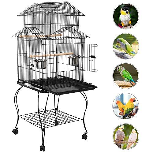 Yaheetech Cage Oiseaux avec Toiture Triple-A Cage sur...