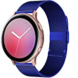 Cinturino 20mm 22mm Per Orologio Samsung Galaxy Active 2 Bracciale 40/44mm Gear S3 Huaw GT/GT2/2e/Pro Orologio Cinturino Magnetico 3/45/41mm *4* (Band Color : Blue, Band Width : 22mm watchbands)