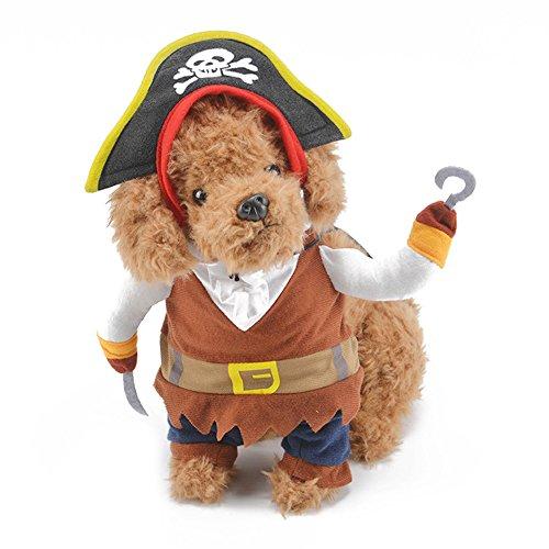 Zantec Costume da pirata per animali domestici, costumi per cani stile elegante morbido