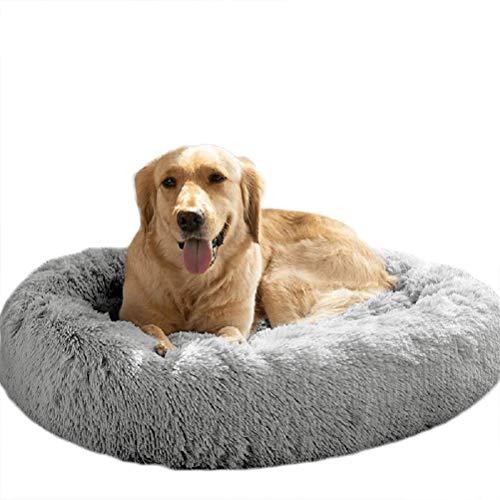 Telismei, cuccia in peluche per cani, lavabile, rotondo, ideale per cani di taglia grande ed extra large