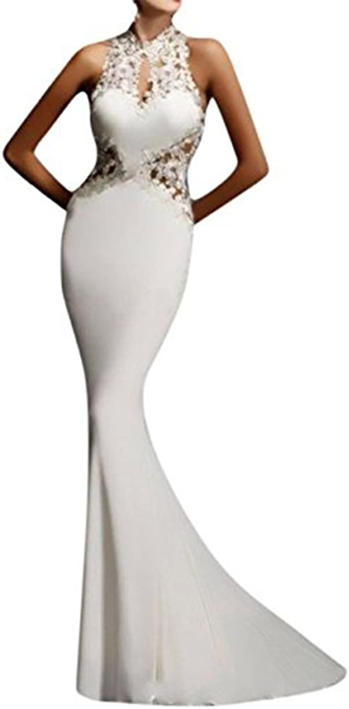 Aiyue Yishen Women's Sheath Sexy Lace Backless Mermaid Bridal Flare Dress