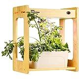 CRZJ Smart Indoor Herd Garden, Sistema de Cultivo hidropónico, Marco de bambú Natural, Kit de Cultivo hidropónico para Hierbas, 20W