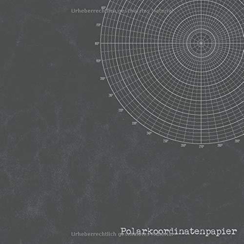 Polarkoordinatenpapier: Polarkoordinaten Papier Zeichnen für Anfänger Erwachsene Skizzenbuch