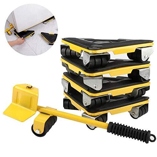 HKDJ-Möbelheber Transportroller Set,Transport Roller Möbelroller + Lastenheber,Belastbarkeit 250Kg Je Rolle,Sicheren Transportieren Von Möbeln, Waschmaschinen Etc