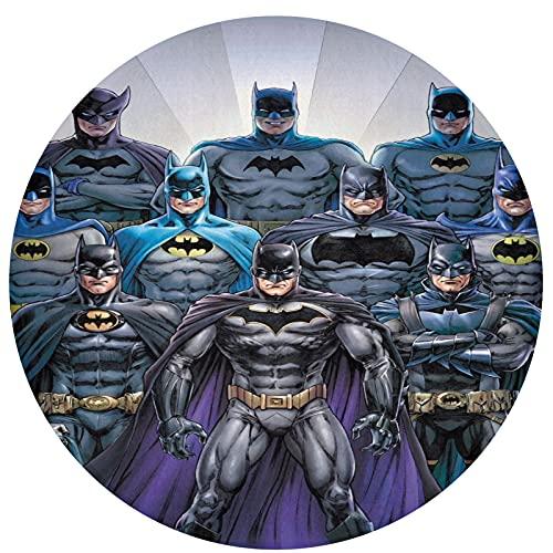 Batman Round Non-Slip Door Mat, Flannel Round Carpet 60*60cm, Home Interior Floor Decoration, Kitchen, Dining Room, Bedroom Non-Slip Mat