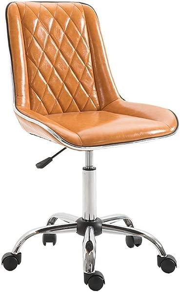 SHIJIAN Designs Modern Armless Office Chair Swivel Task Chair Desk Chair Computer Chair Color Yellow