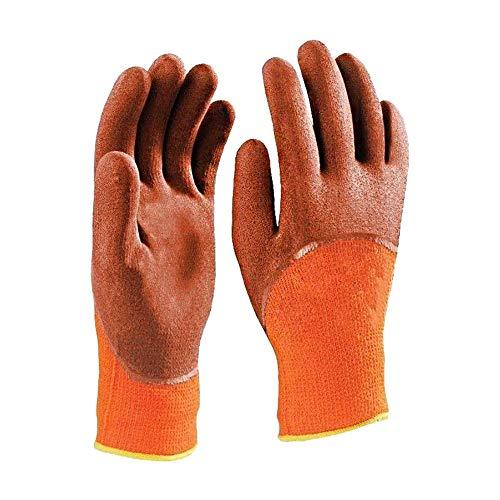 Lotshop All Purpose Huishoudelijke Werkkleding Buiten Tuin Kwaliteit Handschoenen Pack of 2 oranje-bruin