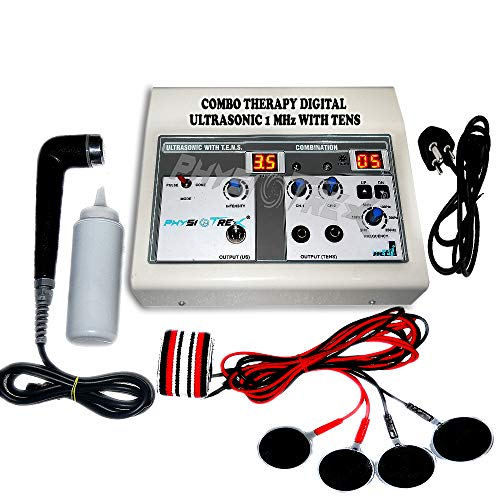 PHYSIOTREX® Physio Solutions ElectroTherapy   Physiotherapy machine   Combo Ultrasonic   Ultrasound with T.E.N.S.   with 1 Year Warranty