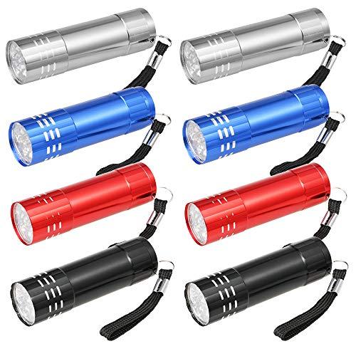 8PCS LED Schlüsselanhänger Taschenlampe Mini Lampe für Bergsteigen Camping Outdoor und Kinder Geschenke