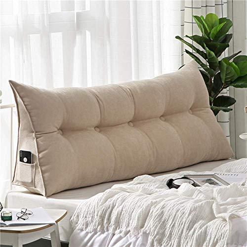 MWPO Cojín Triangular de Felpa con cuña Trasera para sofá Cama, Almohada Suave de Microfibra para el Cuerpo, para la Oficina del diván, cómodo cojín de Respaldo de Lectura-E 200x20x50cm (79x8x20i