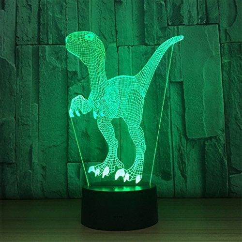 LT&NT Lampe 3D Animaux Illusion d'Optique LED Lights Table Lampe veilleuse 7 Couleurs changeantes USB Tactile Distant noël Cadeaux d'Anniversaire pour Les Enfants -Touch + Télécommande