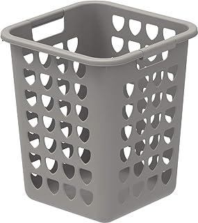 Cosmoplast Plastic Square Laundry Bin, 33 Litre, Grey, IFHHLA372G6