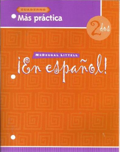 En Espanol: Level 2 Mas Practica Cuaderno (Spanish Edition)