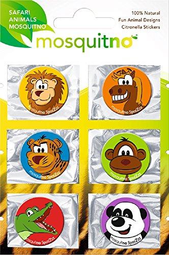 MosquitNo Spotz Safari Citronella Stickers met Multi-Design (Pak van 6)