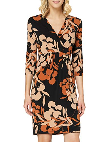 comma Damen 85.899.82.5701 Kleid, 99C2 Black floral Print, 36