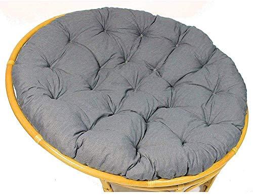 Cojines de exterior para sillas de patio Cojín de asiento de columpio colgante, cojín de silla de hamaca extraíble redondo de ratán para jardín sin soporte Cojines de tumbona de 100 cm (39 pulgadas)