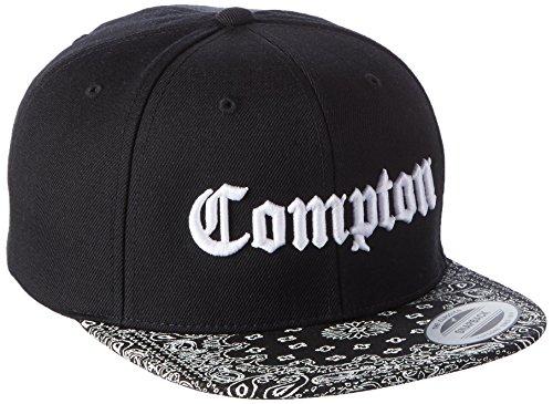 Mister Tee Compton Bandana Cap voor heren, zwart/wit, één maat