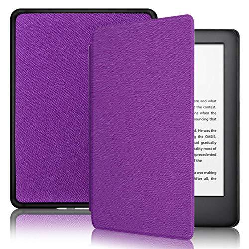DRTWE Hülle Für Kindle,Hülle Fit Kindle Kindle Voyage Kindle 1499 (Nr. Nm460Gz) Ultra Slim Smart Lila Leder Zurück Abdeckung Shells Für Kindle E-Book