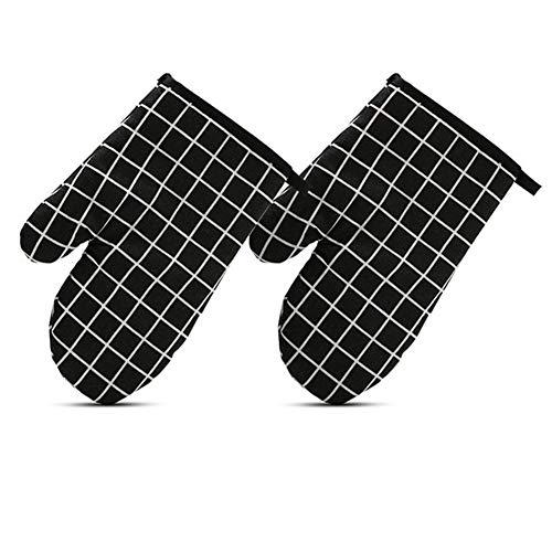N B 1pcs Ofen Mikrowelle Handschuhe aufregen Isolierung Hitzebeständige rutschfeste Pfanne Backform Grill Wärmedämm Werkzeug Baking Werkzeuge (Color : Black Gloves)