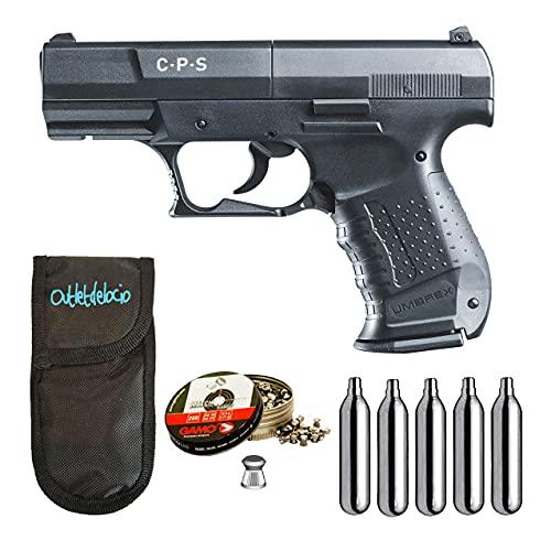 Pistola perdigon CPS co2 4,5mm + Funda Outletdelocio + Balines + Bombonas co2. 23054/29318/38203