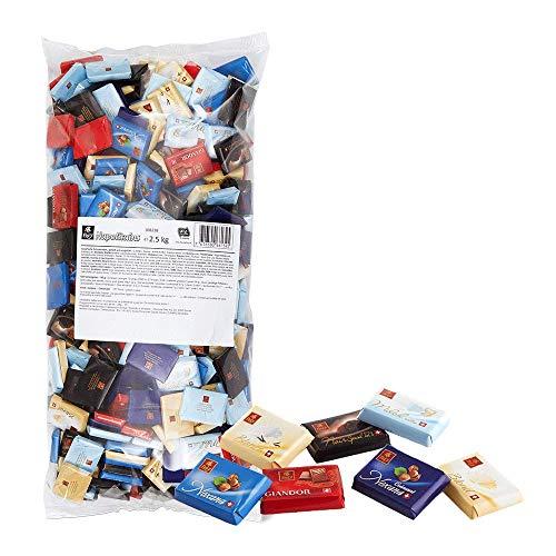 Frey 2,5kg Napolitains Schokolade Mischbeutel - Snacks Mini Schokoladentafeln aus feinen Sorten, gefüllt und ungefüllt - Schweizer Schokolade - Großpackung 1x 2500 g - UTZ Zertifiziert 108238