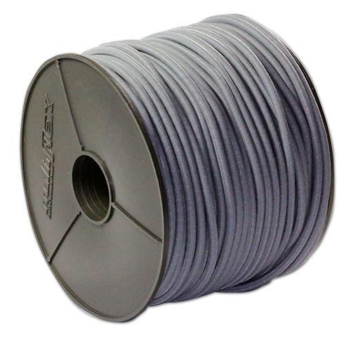 Corda elastica, 8 mm, 20 m, grigia + 10 ganci a spirale, per teloni, in gomma