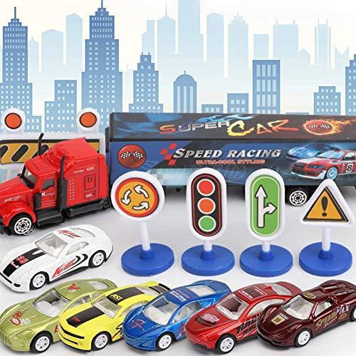 Turtle Story Regalo de cumpleaños 7pcs / Set Simulación de aleación de Coches de Juguete de inercia for Niños Ciudad de Serie for niños, Color: City Series JXNB (Color : City Series)