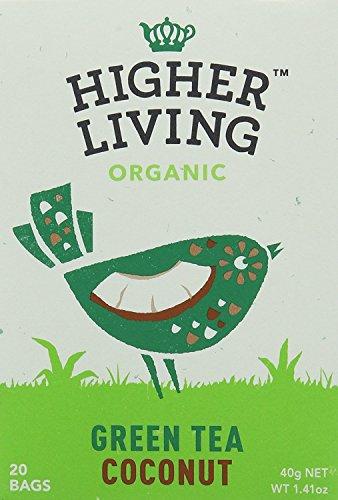 HIGHER LIVING Thé vert Noix de coco - Bio - 83 g