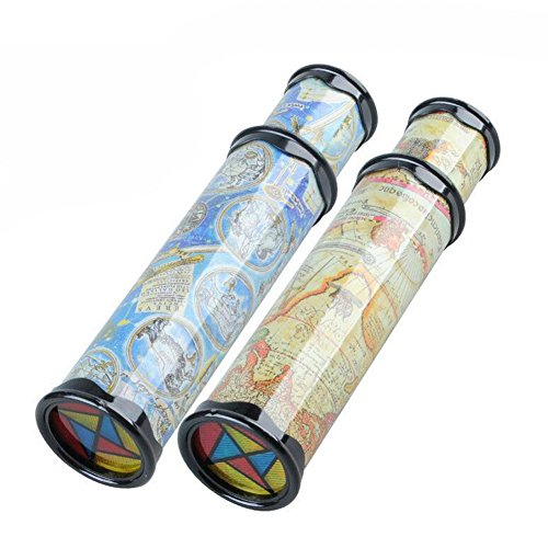 Black Temptation Ensemble de 2 Magical Kaleidoscope Toys Good for Kids Imagination Jouets éducatifs