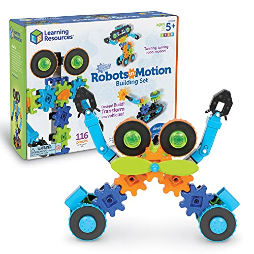 Product Image of the Learning Resources Gears! Gears! Gears! Robots in Motion Building Set, Robot...