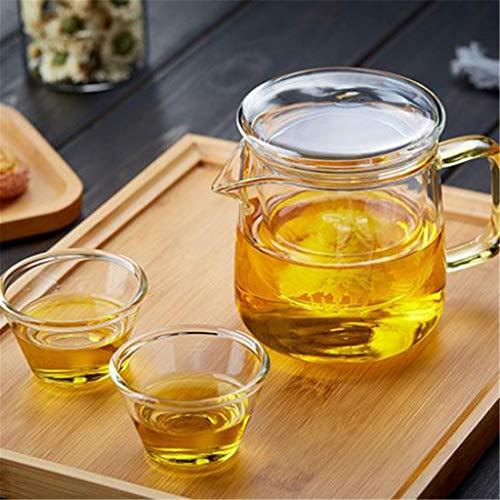 Teteras infusor té Jarra tea pots Viajes teteras Copa de cristal de té de la tetera de Inicio portátil Recorrido al aire libre Tetera de cristal