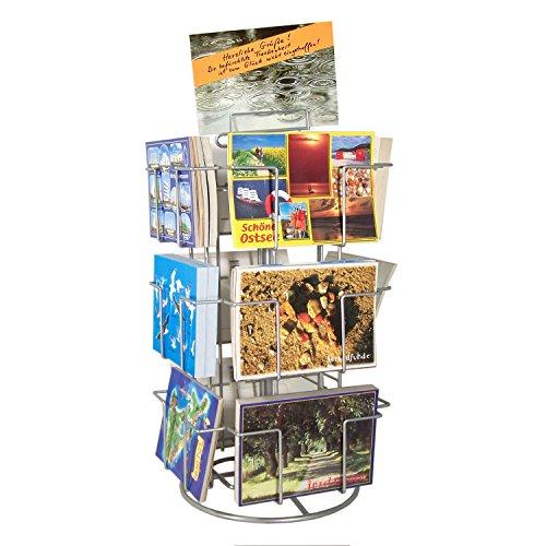 Theken-Kartenständer Postkartenständer für Postkarten 12 Motive drehbar