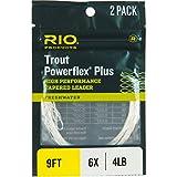 Rio Powerflex Plus Vorfach, konisch, 2er-Pack, einfarbig, 7,5ft/3X