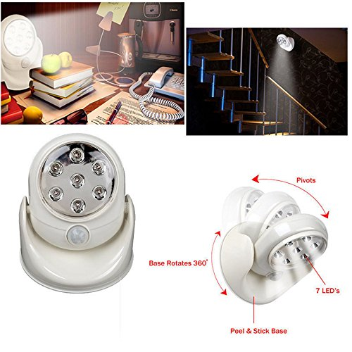Simply Silver - Motion Sensor - Motion Activated Sensor Lamp Stick Up LED Light Angel As Seen On TV Cordless - Unbranded