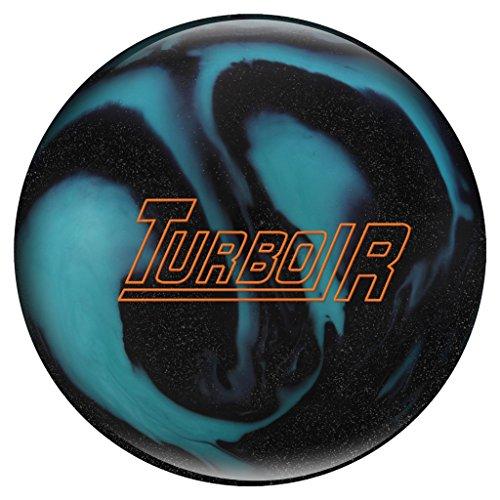Ebonite Turbo/R Bowling Ball, Black Sparkle/Aqua, 10 lb