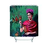 Chata Frida Kahlo Duschvorhang, wasserfest, 152 x 183 cm