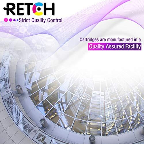 RETCH Re-Manufactured Ink Cartridge Replacement for HP 60XL 60 XL CC641WN CC644WN for Photosmart C4680 D110 C4795 Deskjet F4480 F2480 F4280 D1660 Envy 100 110 114 (1 Black 1 Tri-Color)