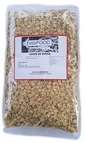 Flocons d'Avoine - 1 kg - Nutriments, Vitamines et Minéraux - Excellente Qualité - 100% Naturel et Sans Toxines - Avoine à Grains Entiers - Céréales de Petit Déjeuner - Source de Fibres Délicieuses
